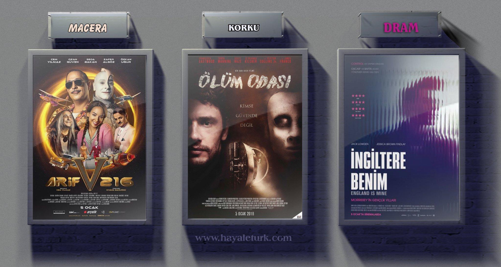 Sinemalarda bu hafta 4 Film Vizyonda 5-12 Ocak 2018
