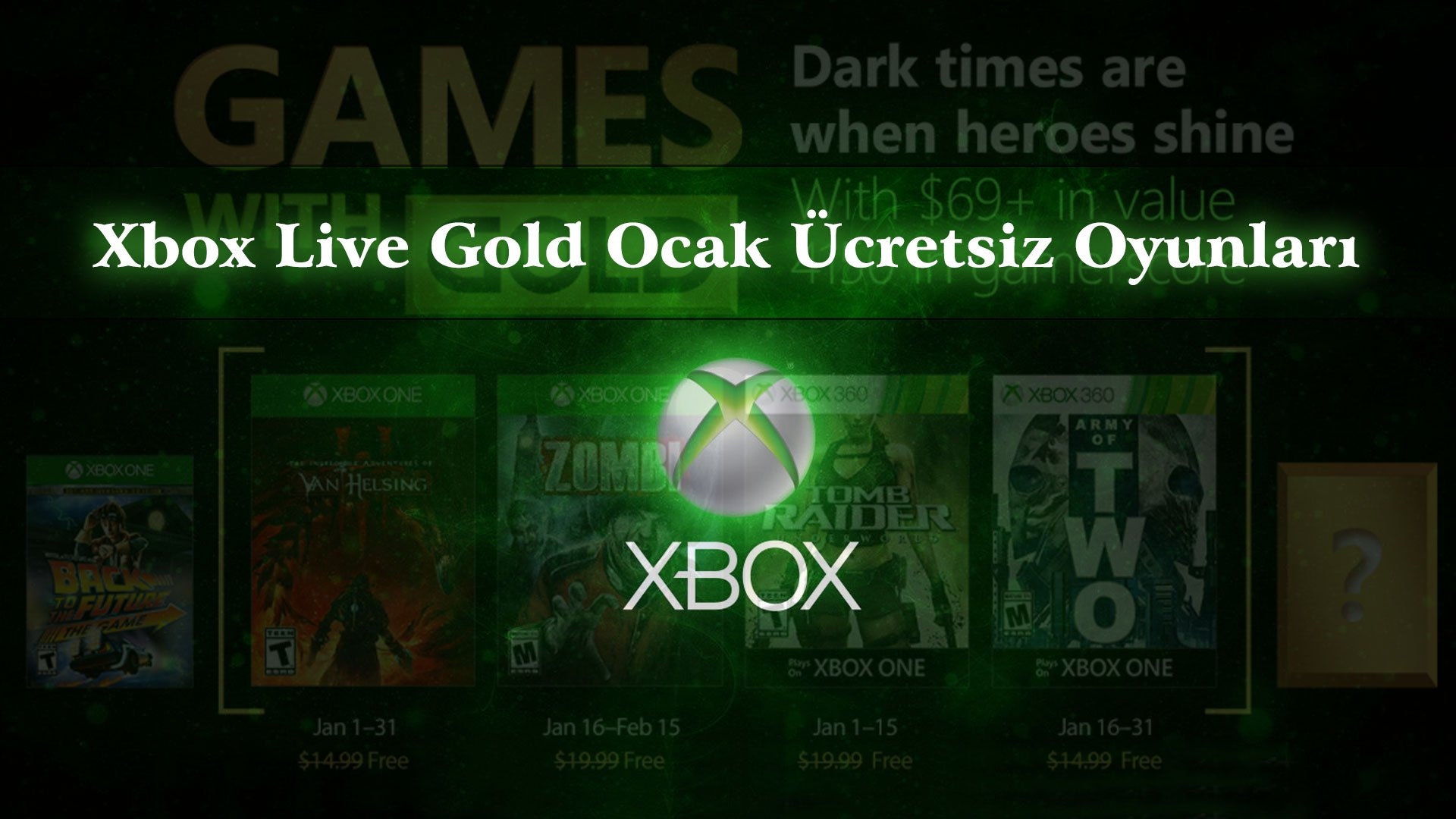 Xbox Live Gold 2019 Ocak Ayı Ücretsiz Oyunları
