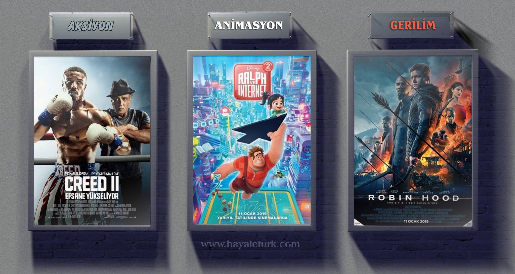 Sinemalarda bu hafta 7 Film vizyonda 11 - 18 Ocak 2019